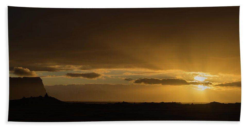 Sunrise Bath Sheet featuring the photograph Sunrise 1 by Thijs Janssen