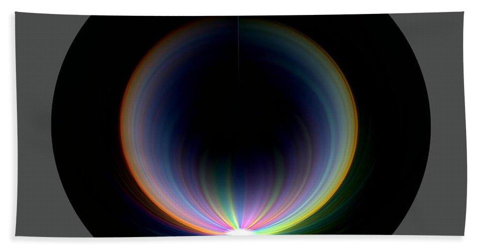 Sunrise Bath Towel featuring the digital art Sunrise At 30k 1 by Tim Allen