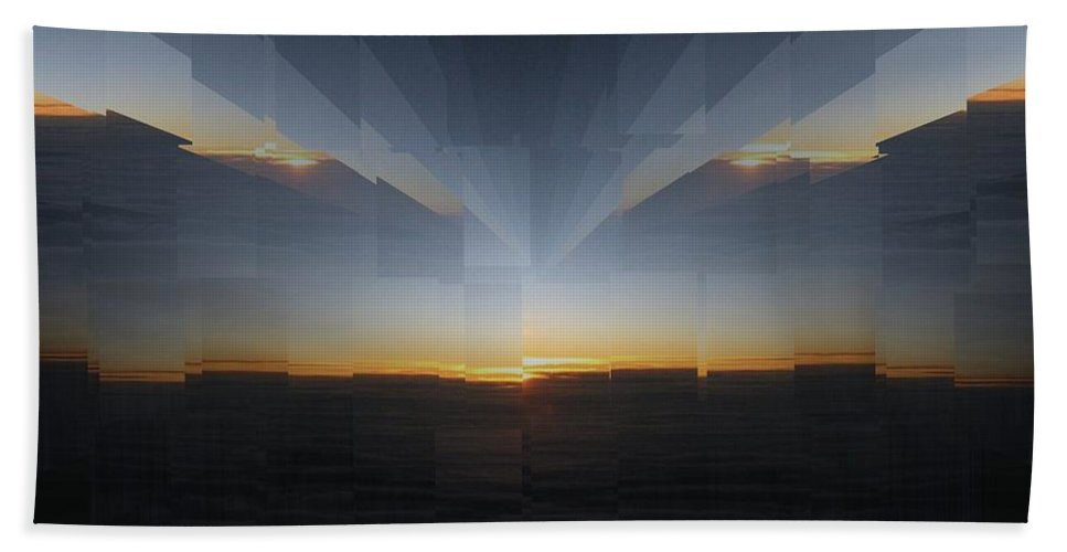 Sunrise Bath Sheet featuring the photograph Sunrise At 30k 10 by Tim Allen