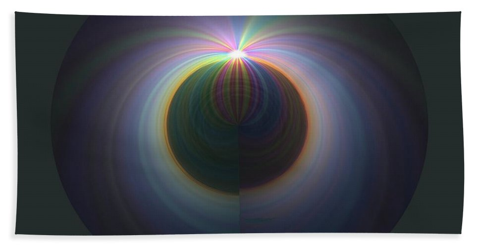 Sunrise Hand Towel featuring the digital art Sunrise At 30k 2 by Tim Allen