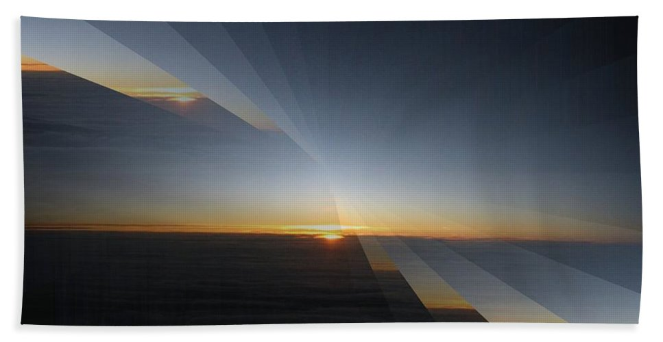 Sunrise Bath Towel featuring the photograph Sunrise At 30k 4 by Tim Allen