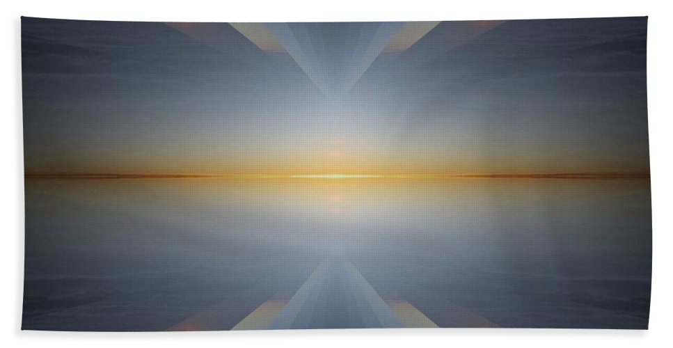 Sunrise Bath Sheet featuring the digital art Sunrise At 30k 5 by Tim Allen
