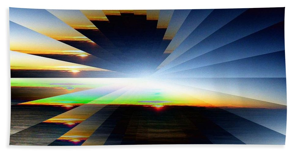 Sunrise Hand Towel featuring the photograph Sunrise At 30k 6 by Tim Allen