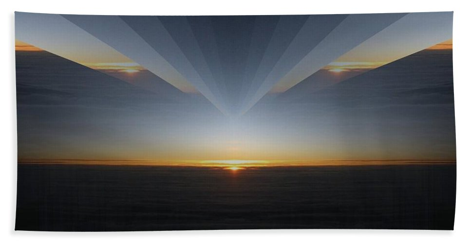 Sunrise Hand Towel featuring the photograph Sunrise At 30k 7 by Tim Allen