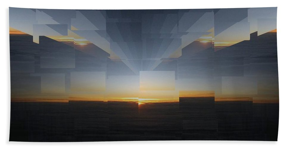 Sunrise Bath Sheet featuring the photograph Sunrise At 30k 8 by Tim Allen
