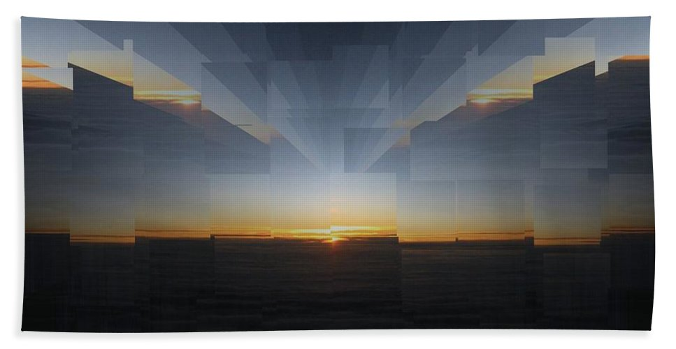 Sunrise Bath Sheet featuring the photograph Sunrise At 30k 9 by Tim Allen