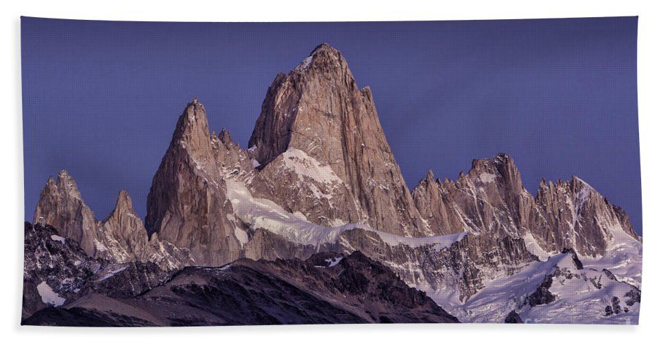 Patagonia Hand Towel featuring the photograph Sunrise At Fitz Roy Patagonia 8 by Timothy Hacker