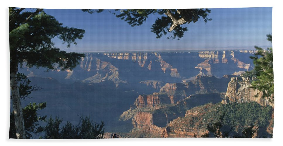 Grand Canyon Hand Towel featuring the photograph Sunrise At The North Rim by Sandra Bronstein