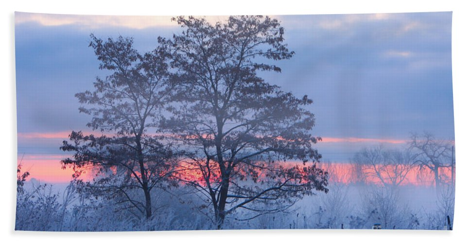 Fog Bath Sheet featuring the photograph Sunrise Fog by James BO Insogna
