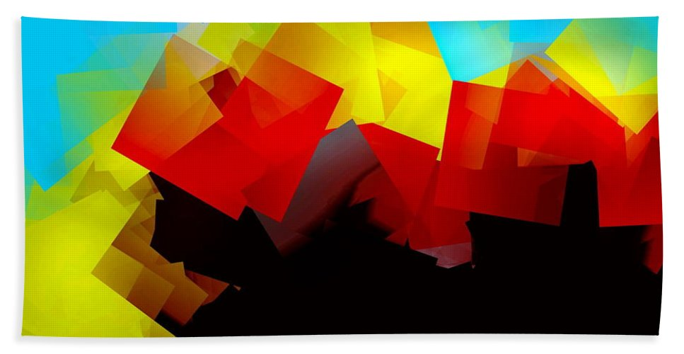 Sunrise Bath Towel featuring the digital art Sunrise by Helmut Rottler