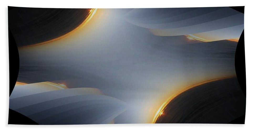 Sunrise Bath Towel featuring the digital art Sunrise In Fractal by Tim Allen