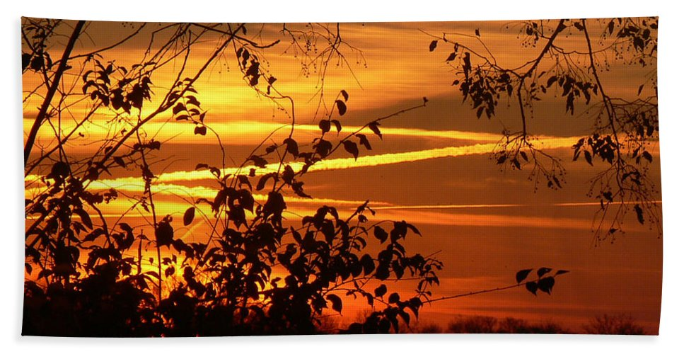 Photo Hand Towel featuring the photograph Sunrise In Tennessee by Ericamaxine Price