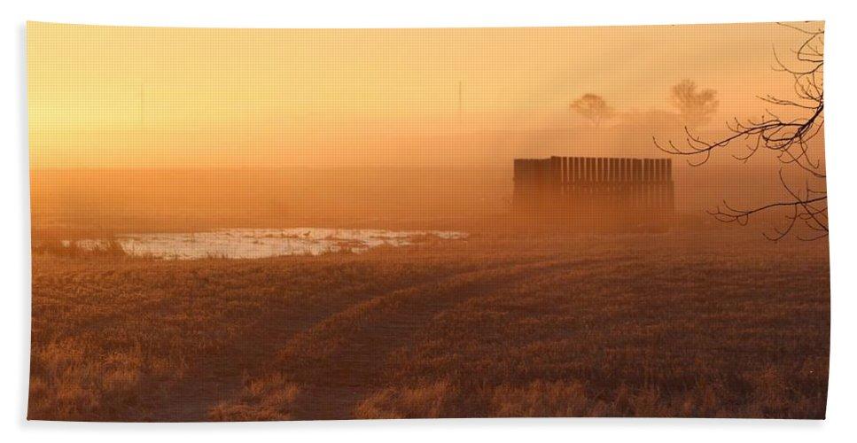 Misty Bath Sheet featuring the photograph Sunrise Mist by Vice Photo