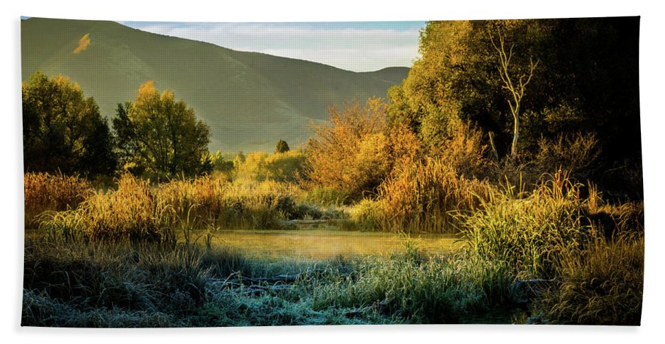 Duck Marsh Hand Towel featuring the photograph Sunrise On The Duck Marsh by TL Mair