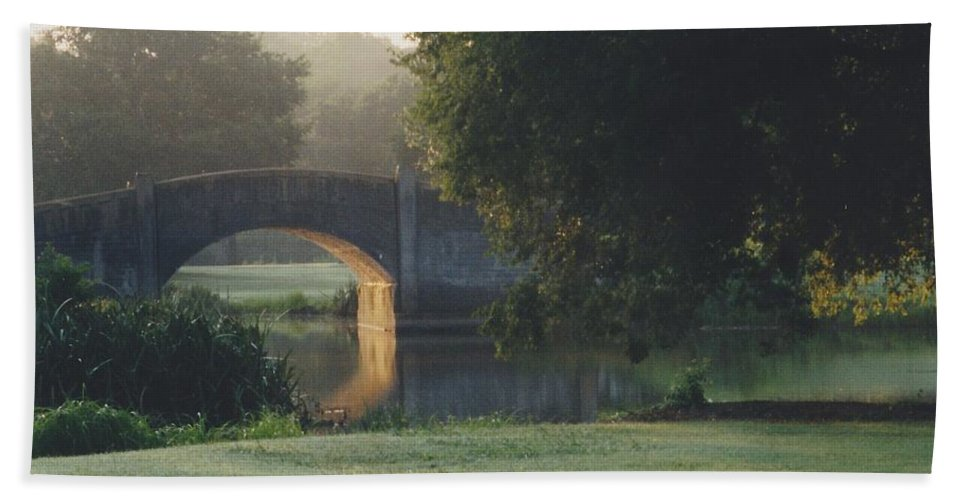 Bridge Hand Towel featuring the photograph Sunrise On The Golf Course by Michelle Powell