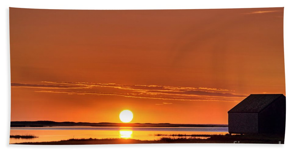 Cape Cod Bath Sheet featuring the photograph Sunrise Over Salt Pond by John Greim