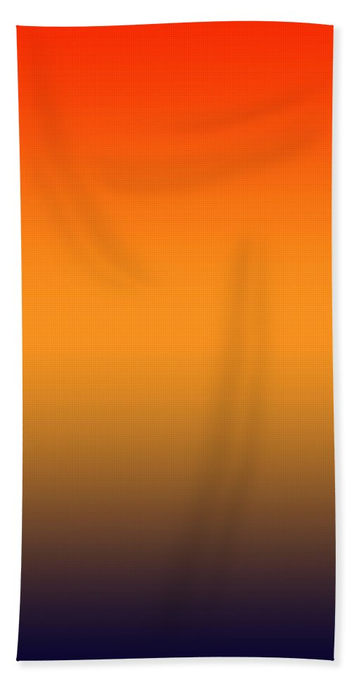 Sunrise Across A Blue Mountain - Abstract Bath Sheet featuring the digital art Sunrise Over The Blue Mountains - R Blended by Custom Home Fashions