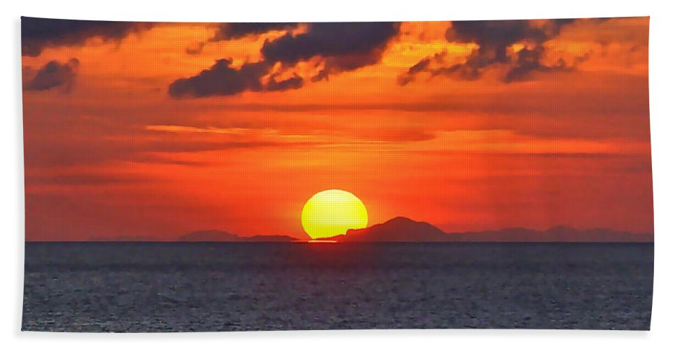 Cruise Hand Towel featuring the photograph Sunrise Over Western Cuba by Don Mercer