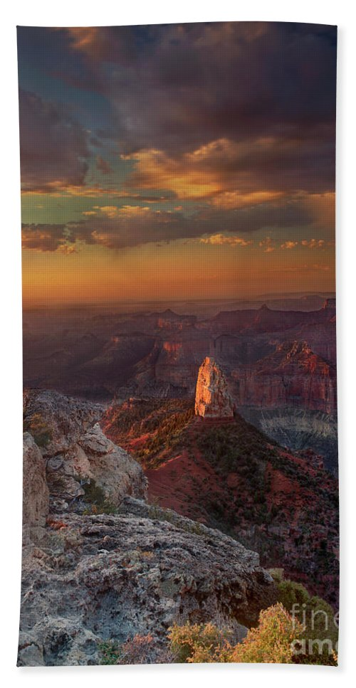 North America Landscape Bath Sheet featuring the photograph Sunrise Point Imperial North Rim Grand Canyon National Park Arizona by Dave Welling