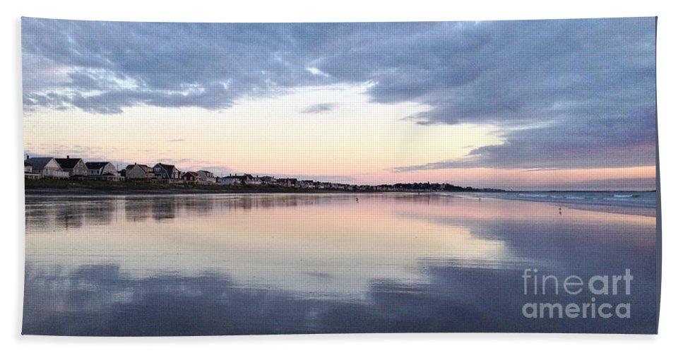 Nantasket Beach Bath Sheet featuring the photograph Sunrise Reflections by Janice Reed Messier