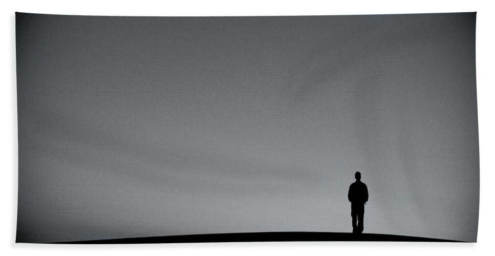 Silhouette Hand Towel featuring the photograph Sunrise Silhouette by Scott Sawyer