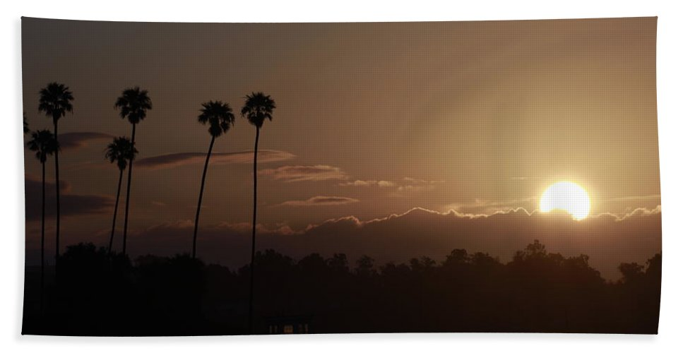 Sunrise Hand Towel featuring the photograph Sunrise So. California by Nick Mattea
