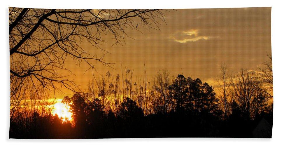 Sunrise Bath Sheet featuring the photograph Sunrise Sunset by Sarah Houser