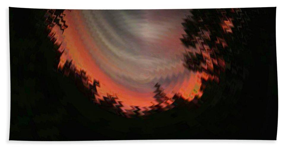 Sunset Hand Towel featuring the digital art Sunset 3 by Tim Allen
