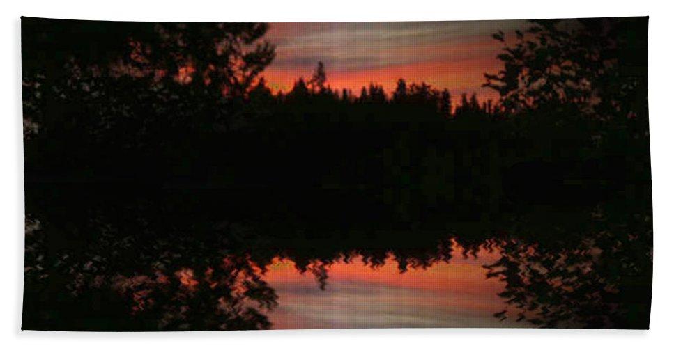 Sunset Bath Sheet featuring the photograph Sunset 4 by Tim Allen