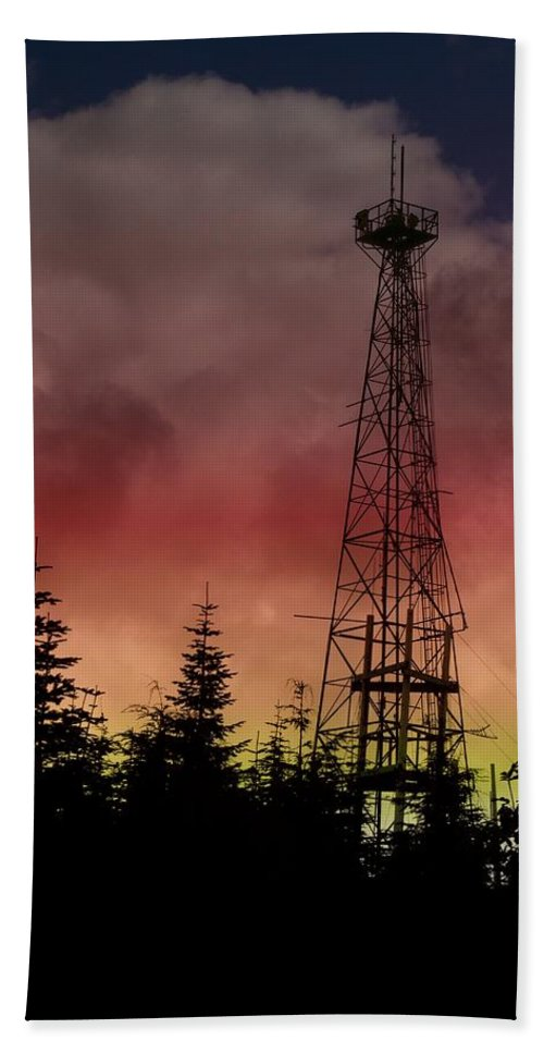 Sunset Hand Towel featuring the photograph Sunset 5 by Tim Allen