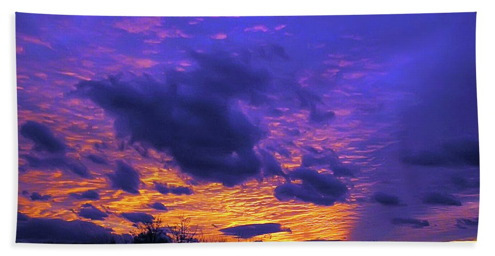 2d Bath Sheet featuring the photograph Sunset After Storm by Brian Wallace