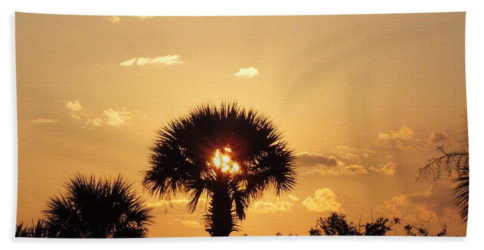 Sunset Hand Towel featuring the photograph Sunset At Clearwater Beach by Sheli Kesteloot