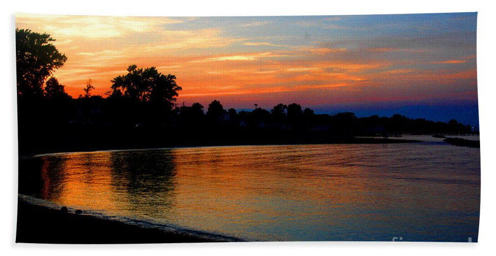 Clay Hand Towel featuring the photograph Sunset At Colonial Beach Cove by Clayton Bruster