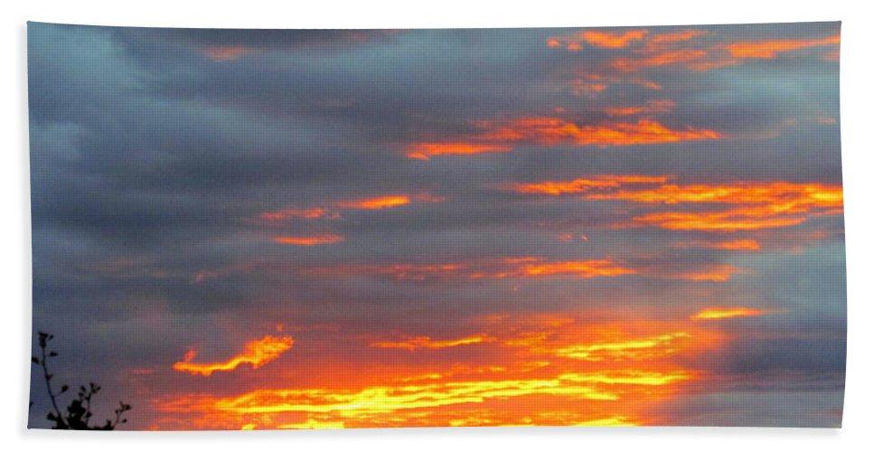 Sunset Christchurch New Zealand Hand Towel featuring the photograph Sunset Christchurch New Zealand by Joyce Woodhouse