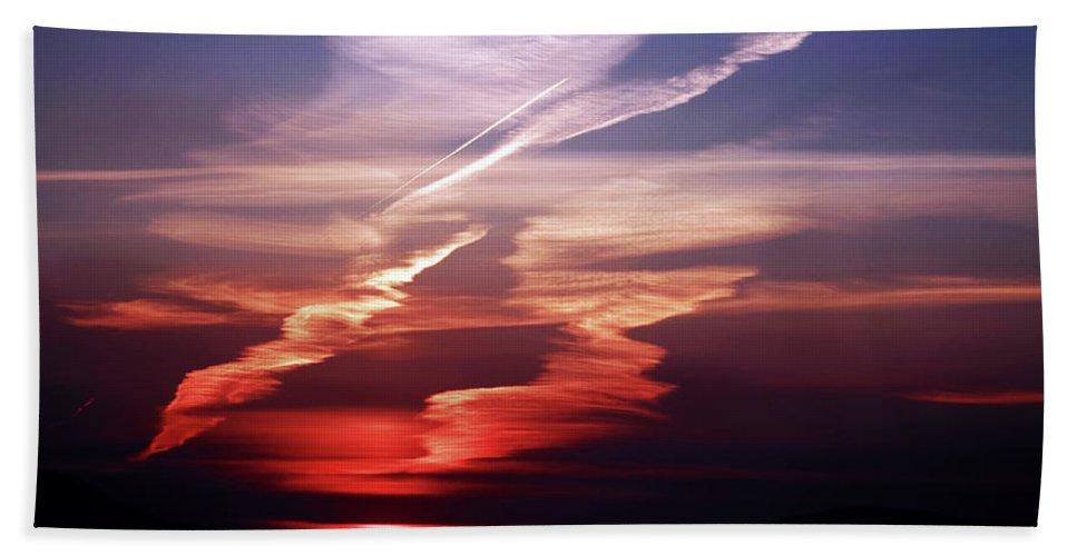 Sunset Hand Towel featuring the photograph Sunset Dance by Aidan Moran