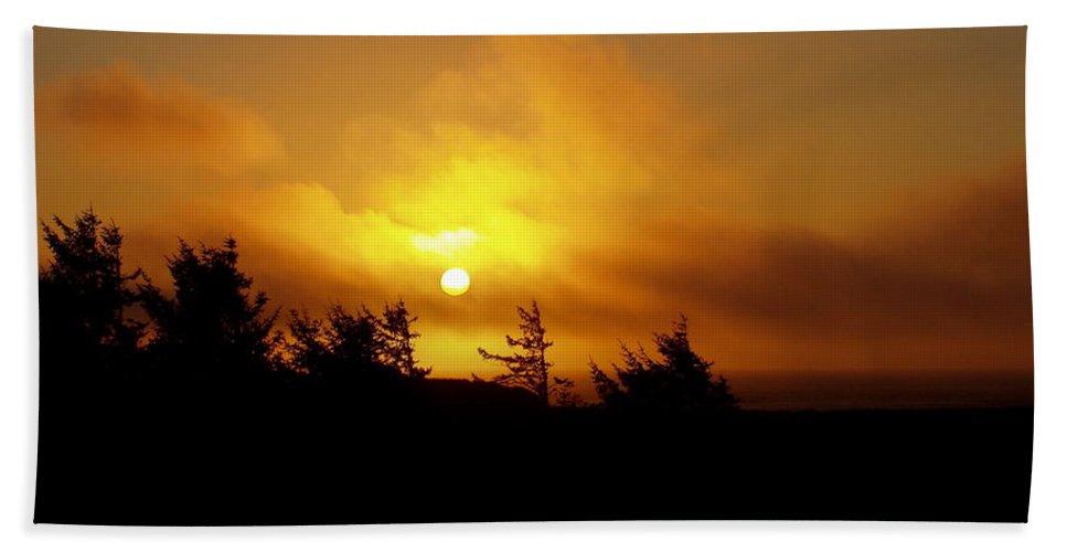 Sunset Hand Towel featuring the photograph Sunset by Deborah Crew-Johnson