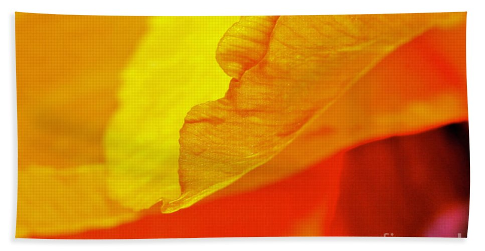 Flower Bath Sheet featuring the photograph Sunset Flower by Michael Cinnamond