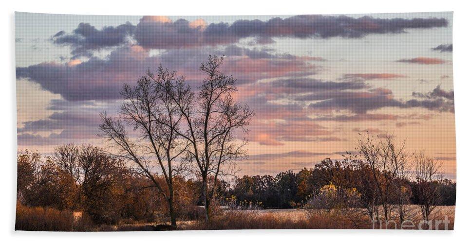 Sunset Bath Sheet featuring the photograph Sunset Glow by Grace Grogan