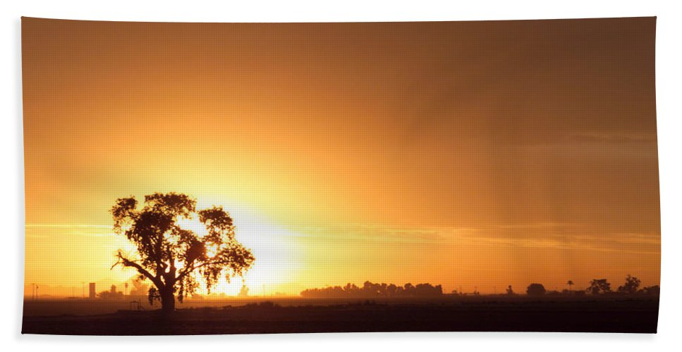 Sunset Bath Sheet featuring the photograph Sunset In Arizona by Scott Sawyer