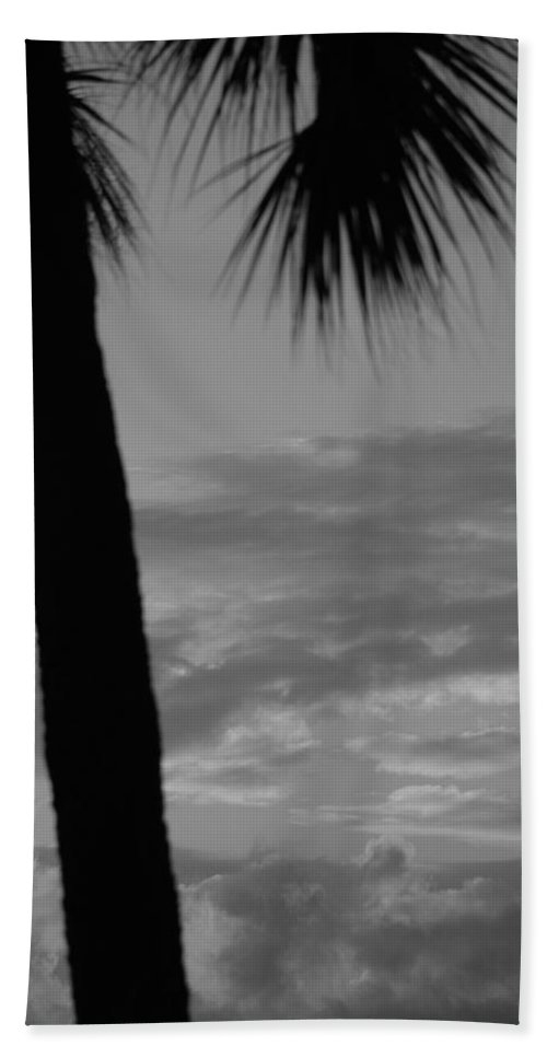 Black And White Bath Towel featuring the photograph Sunset In Black And White by Rob Hans