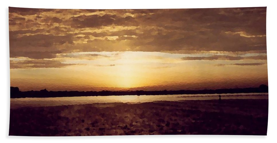 Sunset Bath Sheet featuring the photograph Sunset In Fl by Charleen Treasures