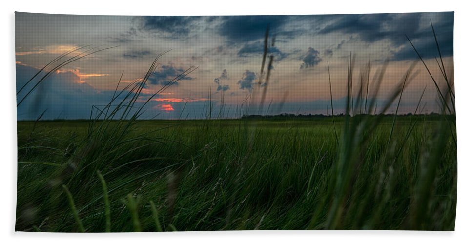 Sunrise Hand Towel featuring the photograph Sunset In Margate Nj by Alissa Beth Photography