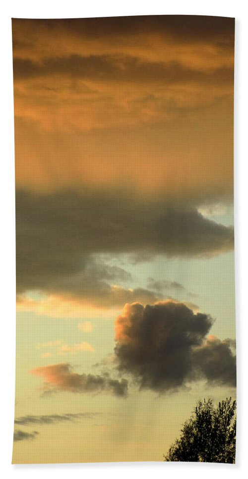 Sunset Bath Sheet featuring the photograph Sunset May 21 2015 by William Tasker