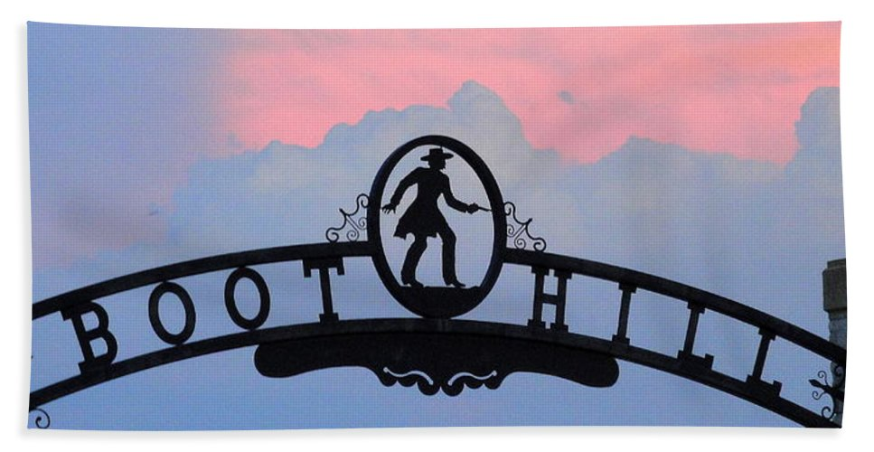 Boot Hill Hand Towel featuring the photograph Sunset On Boot Hill by Cindy New