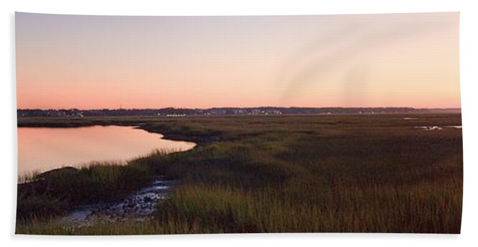 Hilton Head Hand Towel featuring the photograph Sunset On Broad Creek Hilton Head South Carolina by Thomas Marchessault
