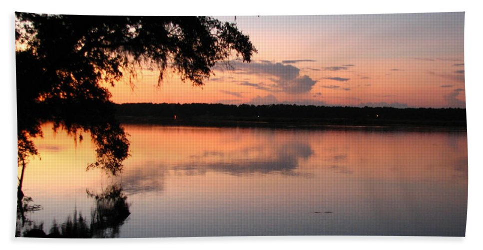 Sunset Hand Towel featuring the photograph Sunset On The Ogeechee by J M Farris Photography