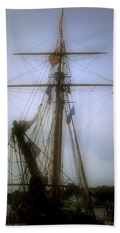 Sailboat Bath Sheet featuring the photograph Sunset Over The Amistad by RC DeWinter