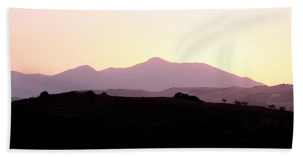 Spain Hand Towel featuring the photograph Sunset Over The Andalucian Mountains Near Villanueva De La Concepcion by Mal Bray