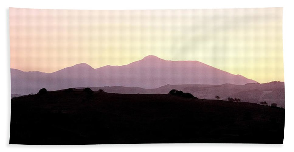 Spain Bath Towel featuring the photograph Sunset Over The Andalucian Mountains Near Villanueva De La Concepcion by Mal Bray