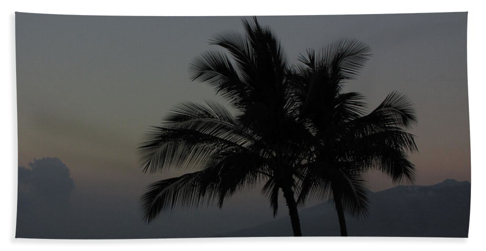 Sunset Hand Towel featuring the photograph Sunset Palm by Sarah Houser